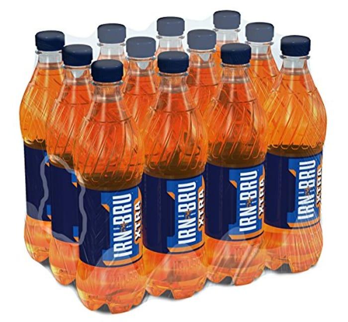 IRN-BRU Xtra Soft Drink Bottle 500 Ml (Pack of 12)