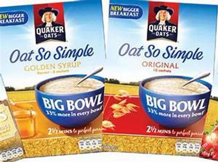 Quaker Big Bowl Oat So Simple Original Golden Syrup 1
