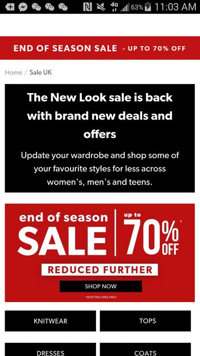 NEW LOOK SALE is BACK ! Accessories Starts from 50p