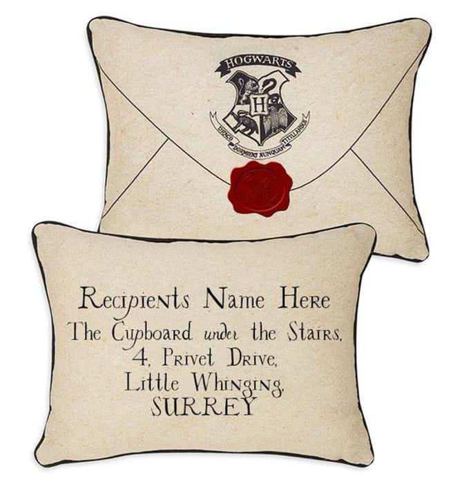 Free! Personalised Harry Potter Hogwarts Envelope Cushion Cover