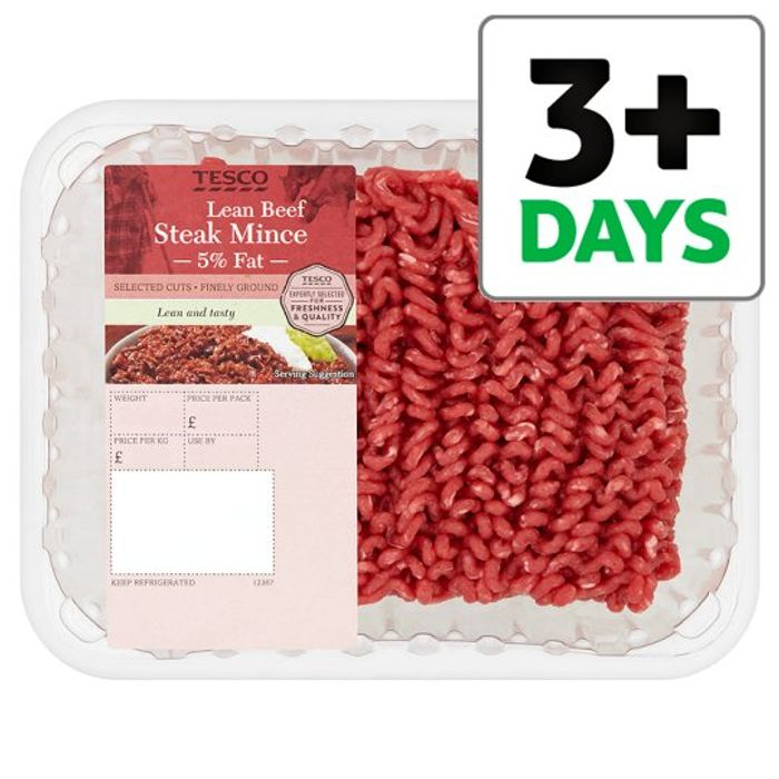 Tesco Beef Lean Steak Mince 500G 5% Fat - 3 for £10