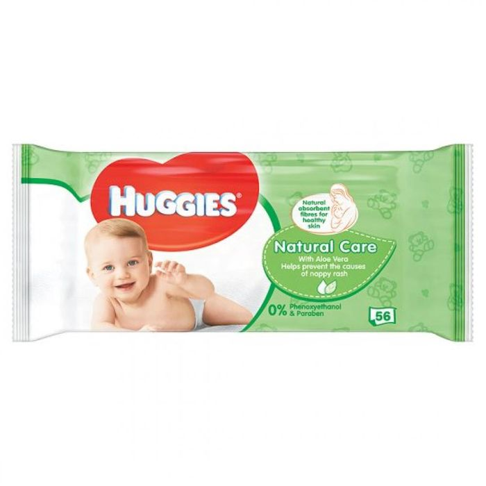 Huggies Natural Care Baby Wipes 56