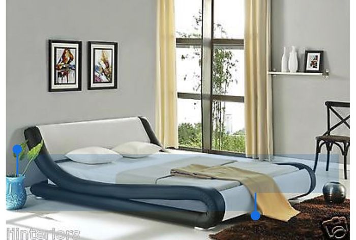 buy popular 4583c dbeb6 Enzo Italian Modern Small Double King Size Leather Bed ...