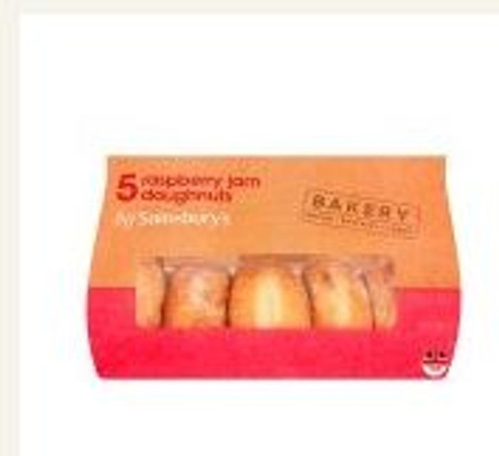 Sainsbury's Doughnuts Jam Ball X5 from Sainsbury's Only 50p: Save 15p
