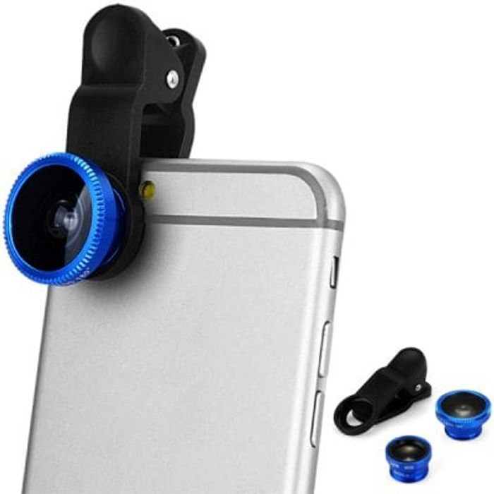 3 in 1 Universal Clamp Camera Lens