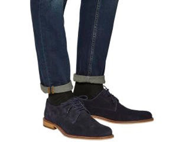 Office Bhatti Plain Toe Suede Shoes at Office Shoes