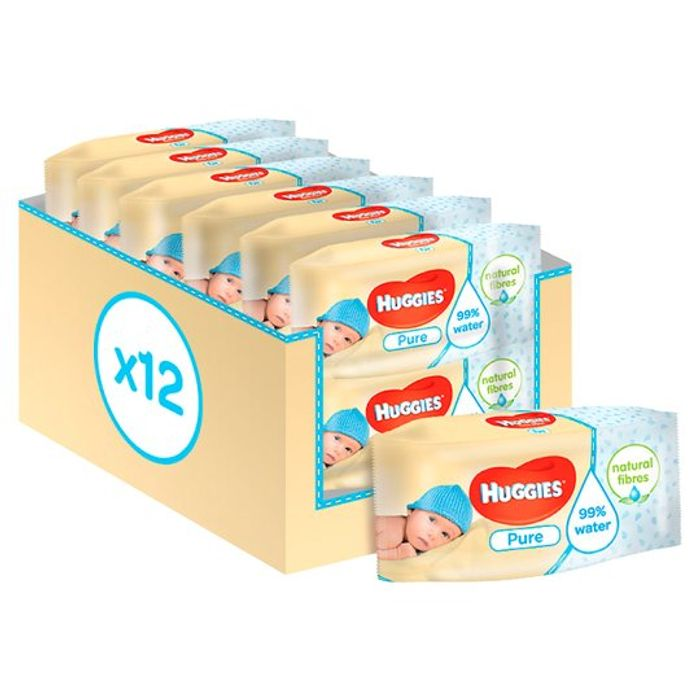 HALF PRICE - Huggies Wipes X 12 Pack