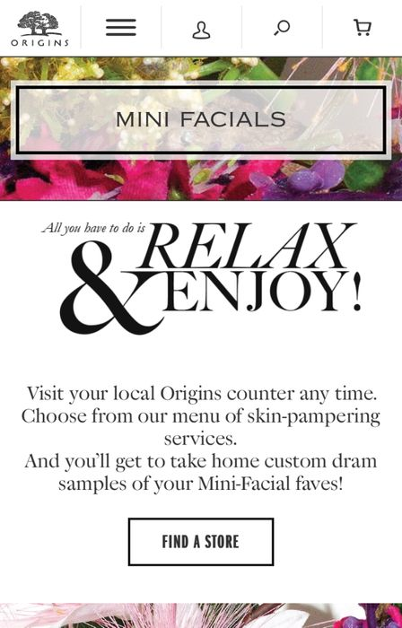 Free Origins Facial Instore, with Free Samples to Take Home!