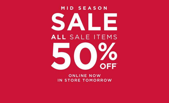 Monsoon mid Season Sale. 50% off Sale Items