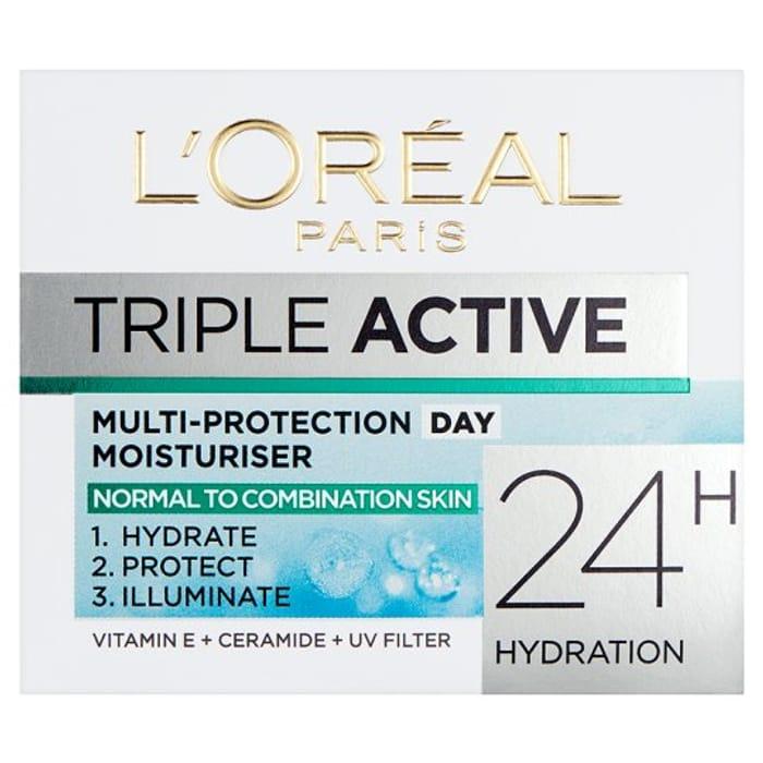 L'oreal Paris Triple Active Day Cream Moisturiser 50Ml