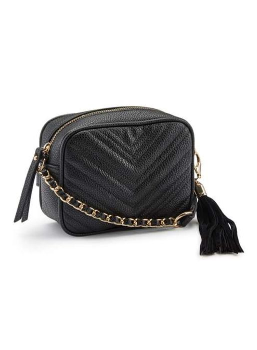 Miss Selfridge Quilted Cross Body Bag - Free Delivery