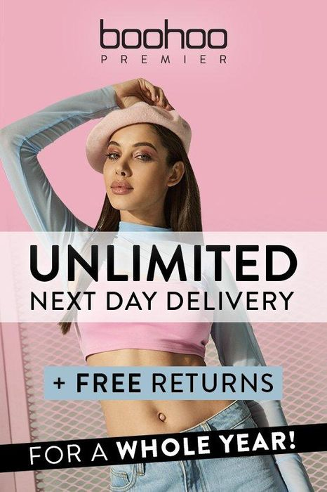 Boohoo Premier. £5:99 to Get Free Returns and next Day Delivery for a YEAR!