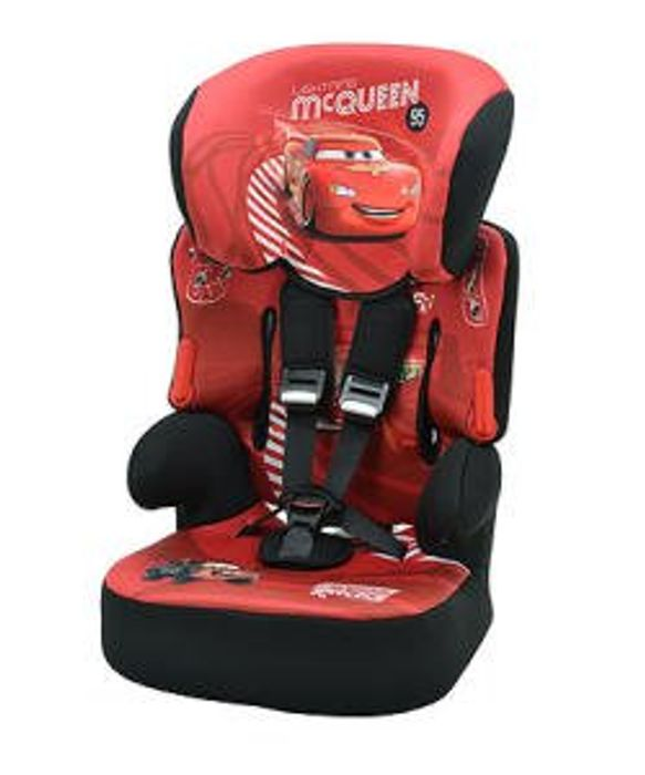 £35 Disney Cars Beline SP Highback Booster Car Seat w/Harness at Mothercare