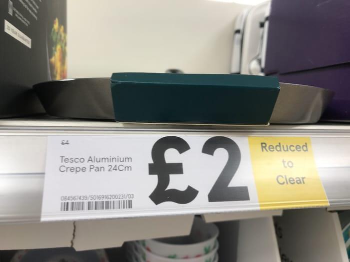Tesco Aluminium Crepe Pan