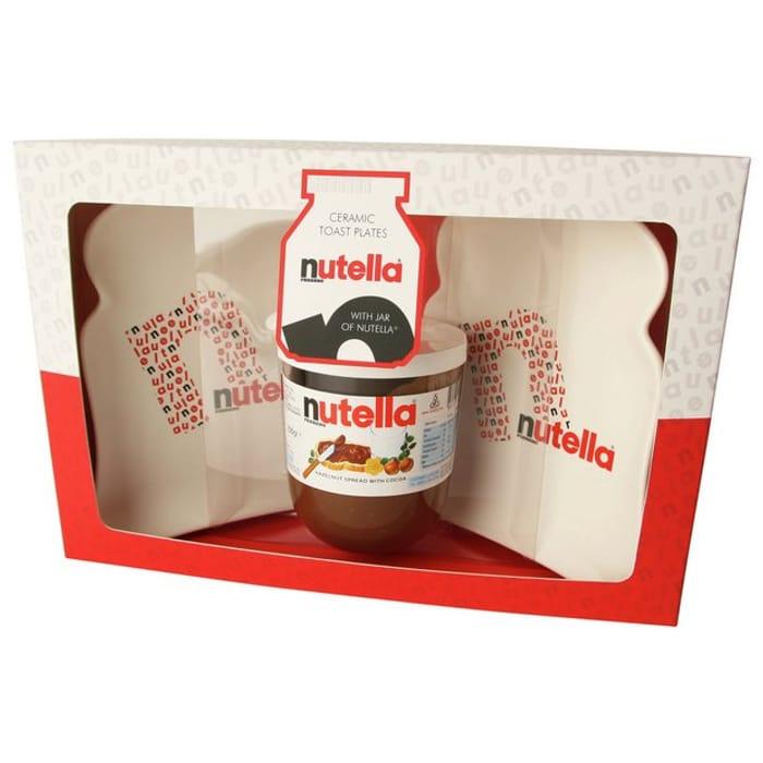 2x Nutella Toast Plates & 200g Nutella Jar Set - save 80%