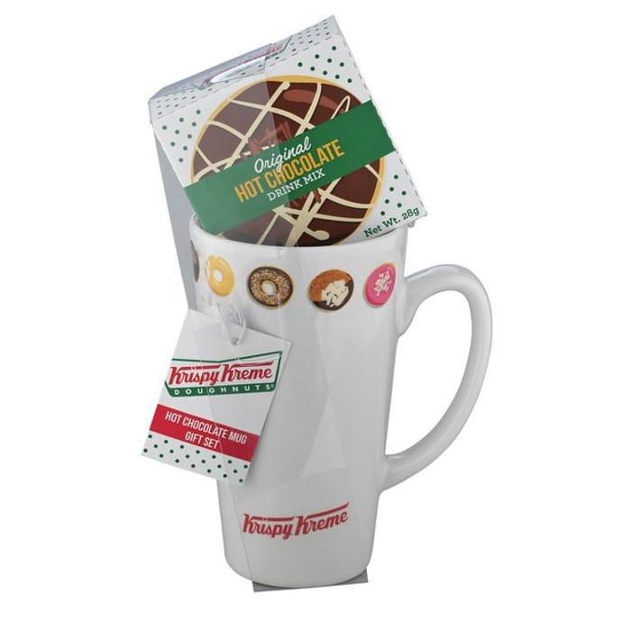 Krispy Kreme Hot Chocolate Mug Set - save 78%