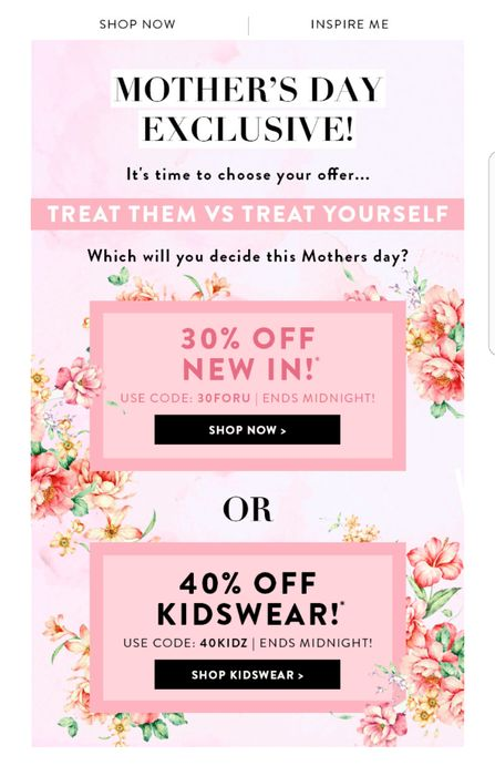 Mother's Day Promo in Boohoo