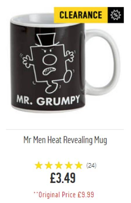Mr Grumpy - Heat Revealing Mug