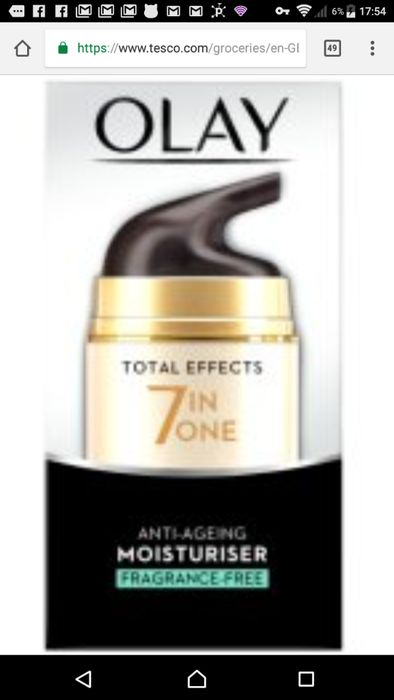 Olay Total Effects 7in1 Fragrance Free Cream