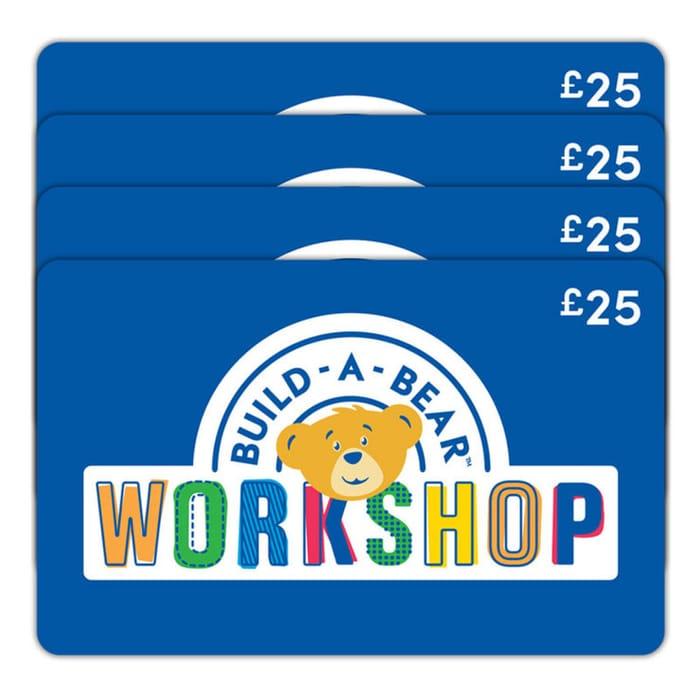 £100 BUILD-a-BEAR Gift E-Card Multipack (4 X £25)