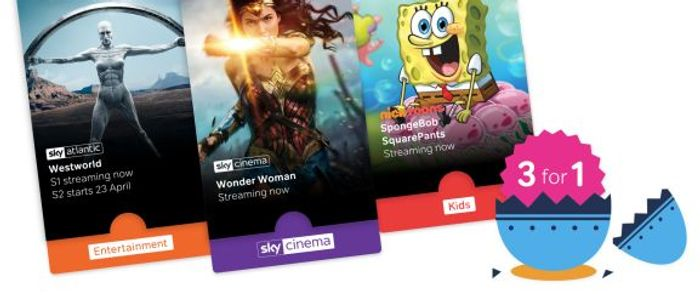 3 Months of Sky Cinema (£9.99), Entertainment (£7.99) for Price of 1