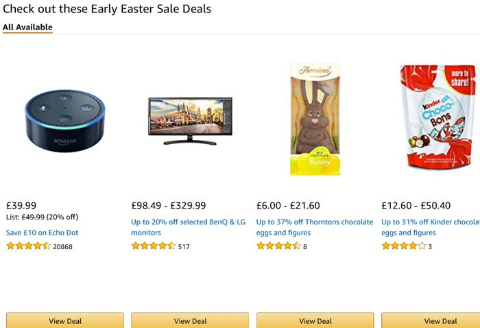Amazon Early Easter Sale Deals 19-26 March