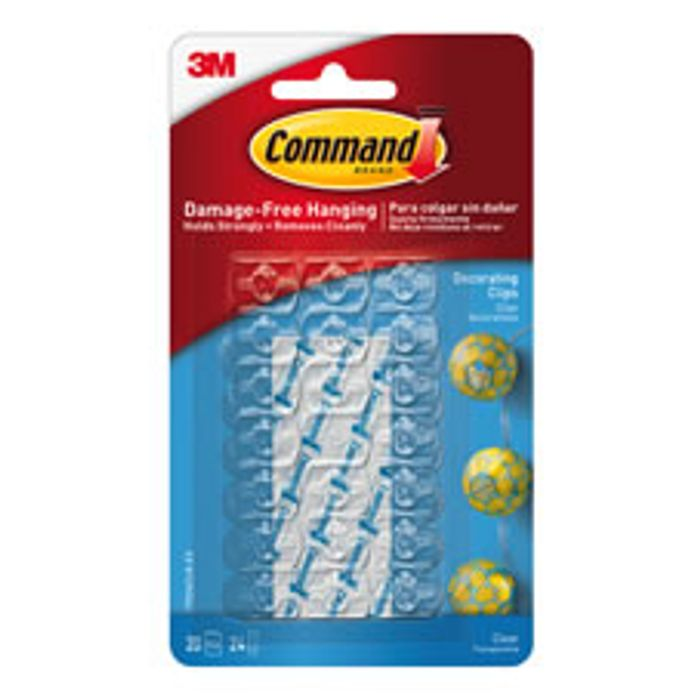 Command Damage Free Decorating Clips Clear 20pk