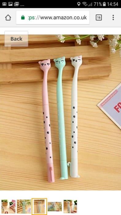 BACK to 10P! BuW Japanese Style Cartoon Cat Head Gel Pen