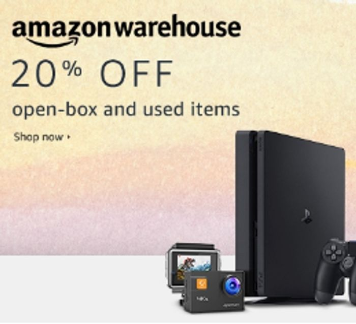Amazon Warehouse 20% off Open Boxed and Used Items