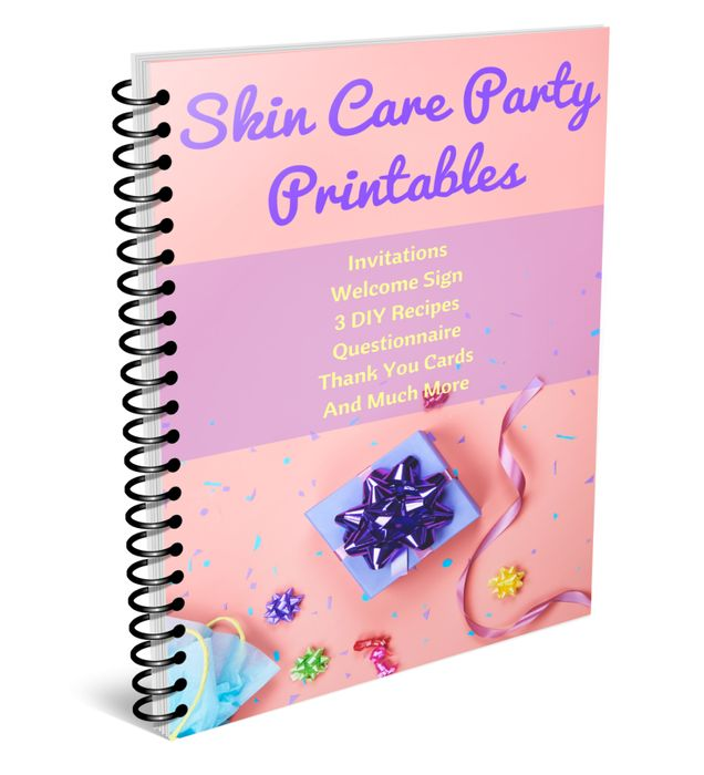 Skin Care Party Printables