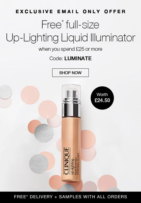 FREE Full Size Up-Lighting Liquid Illuminator worth £24.50 with Orders over £25