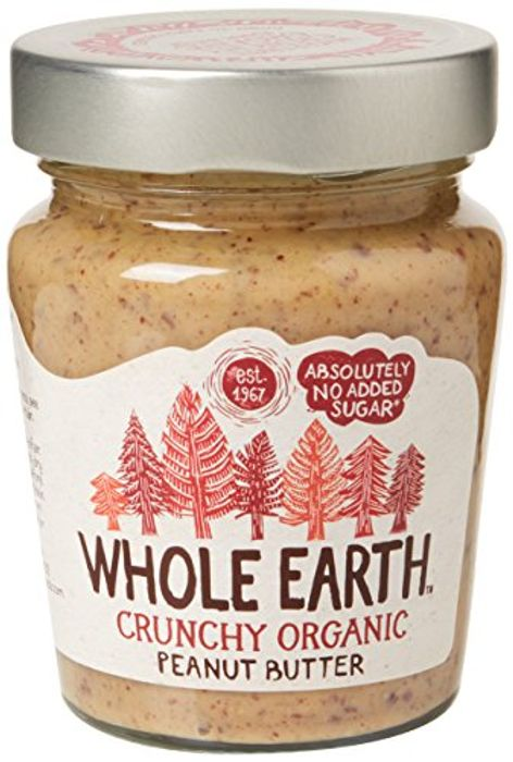 Whole Earth Organic Peanut Butter Crunchy 227 G (Pack of 6)