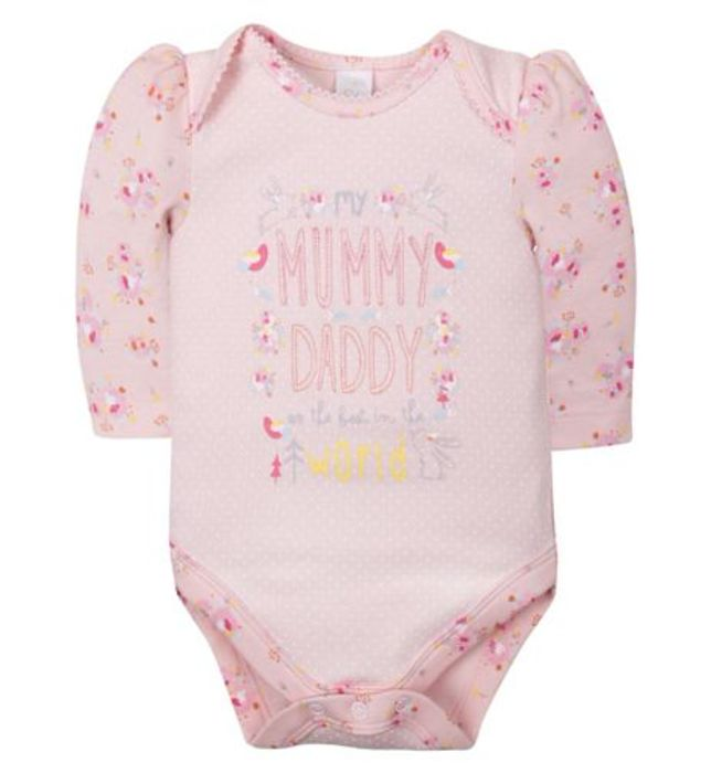 Mini Club Pink Single Bodysuit
