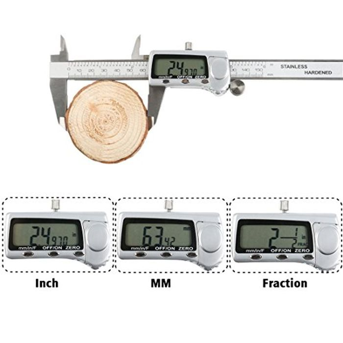 Digital Vernier Caliper plus Free Angle Gauge worth £6.99
