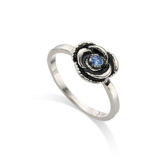 HALF PRICE Blue Topaz Rose Ring at Pia.com
