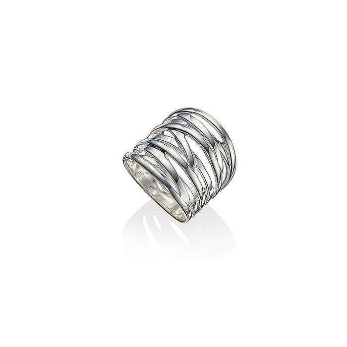 75% off Silver Strands Wide Ring at Pia.com