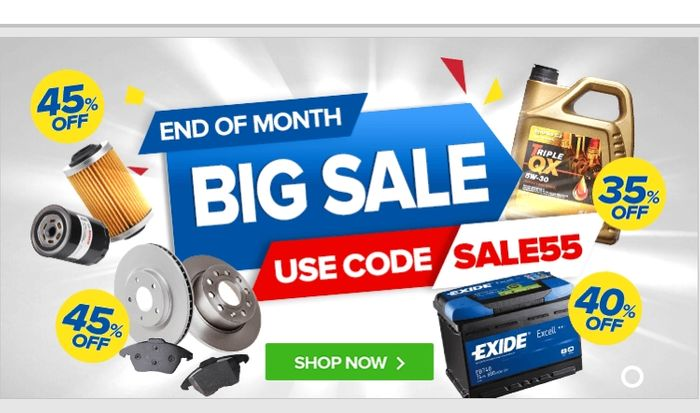 Big Sale- 55% off at Euro Car Parts with Code