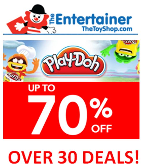 Play-Doh for LESS! up to 70% off Play-Doh DEALS at the Entertainer!