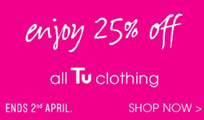 Tu Clothing Sale 25% off Everything