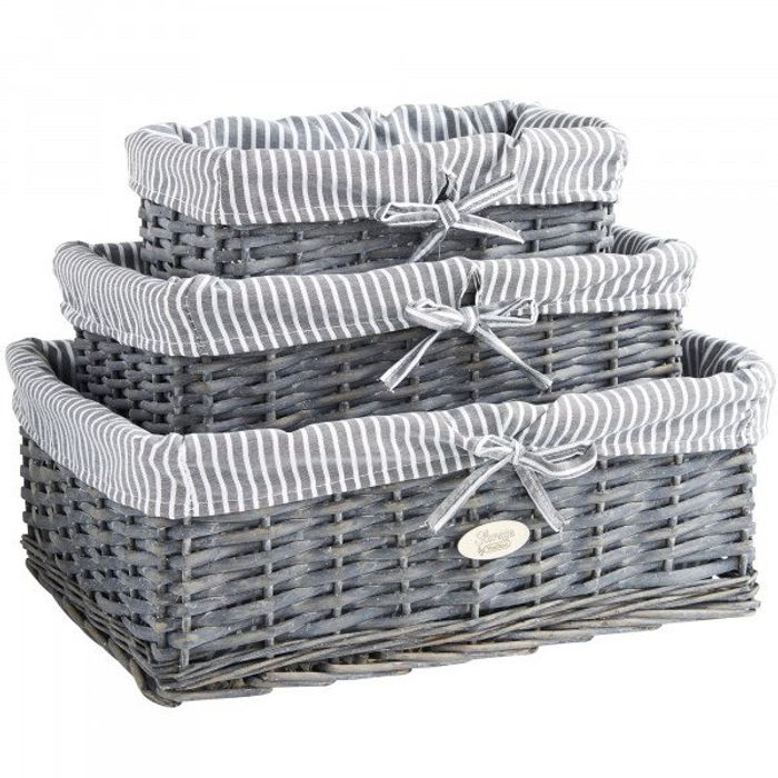 3 Pack of Wicker Baskets Free Delivery