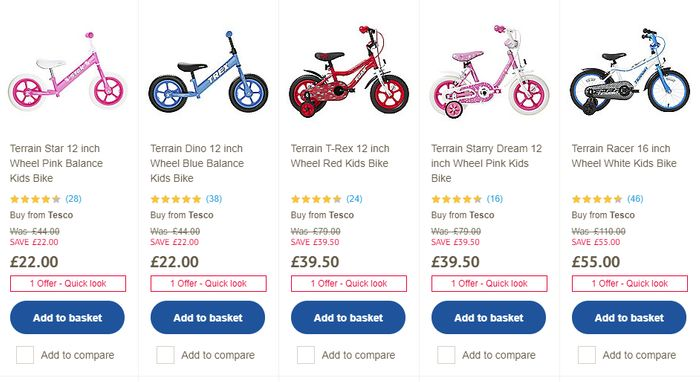 Up to Half Price on Selected Terrain Bikes