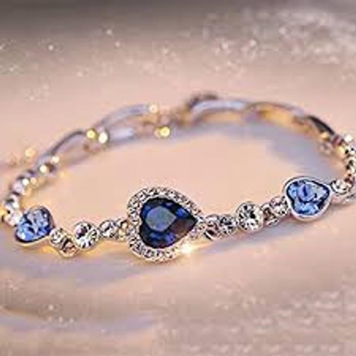 Titanic Inspired Heart of Ocean Bracelet (Ocean Blue)