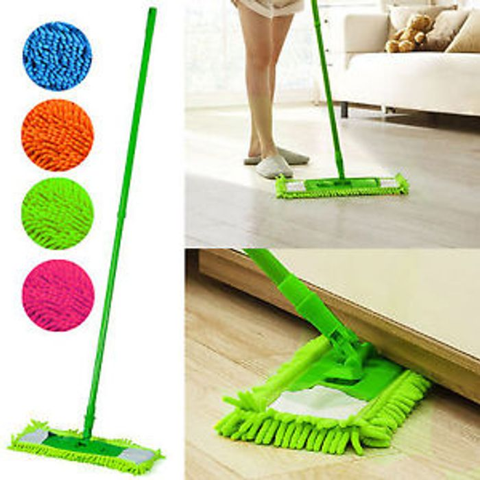 Extendable Microfibre Mop Cleaner Sweeper Wooden Laminate Tile Floor