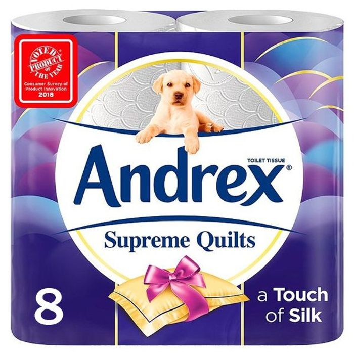 Andrex Supreme Quilts Toilet Tissue 8 Pack