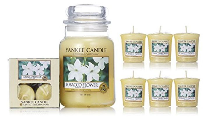 Official Yankee Candle 19 Piece Tobacco Flowers Collection Gift Set