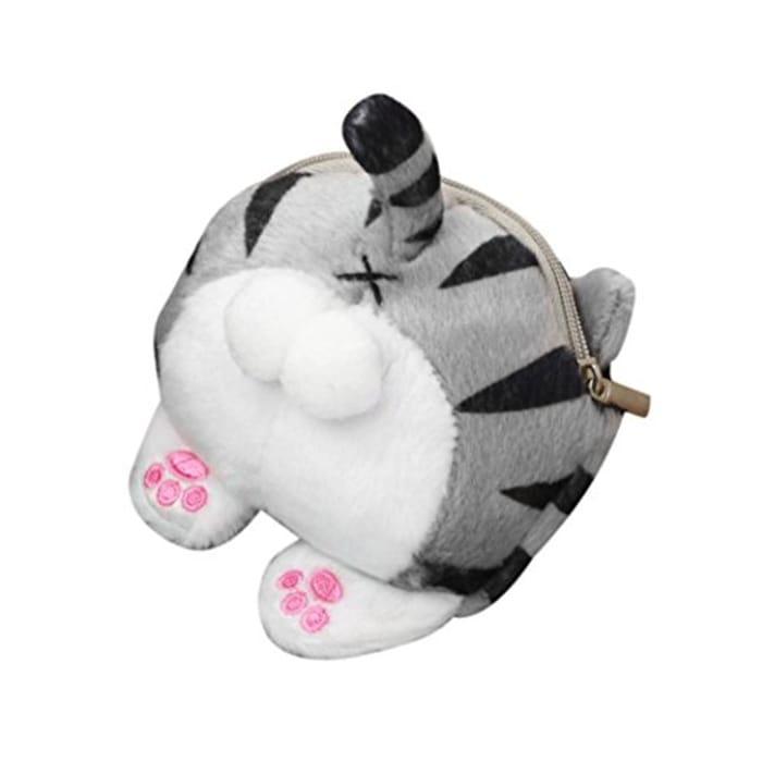 Cute Cat Butt Tail Plush Coin Purse