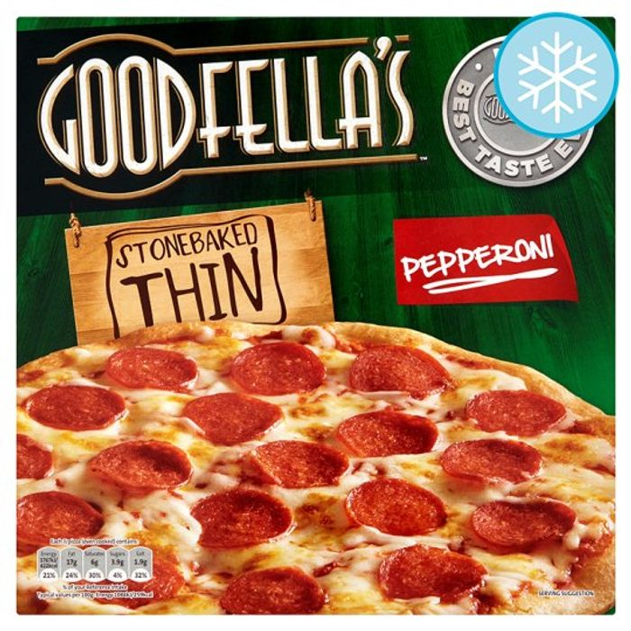 Goodfella's Stonebaked Thin Pepperoni Pizza 340G