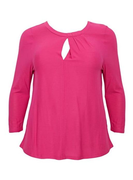 Evans Pink Sleeved Top