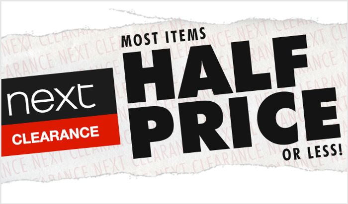 Clearance Sale on Next!!