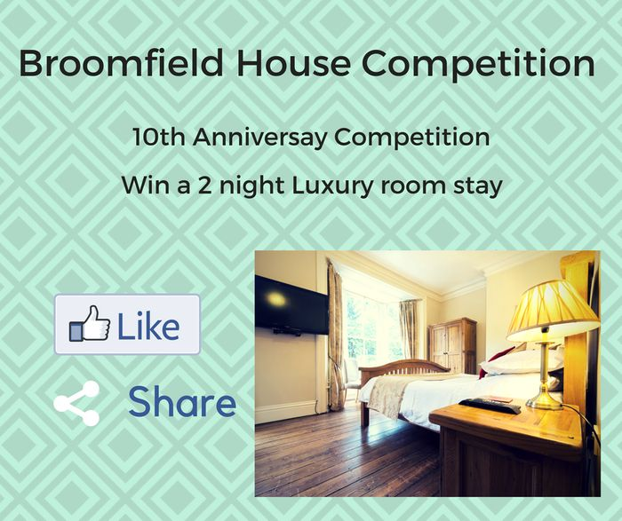 Broomfiled House - Win 2 Night Stay in a Luxury Room B&B worth £250